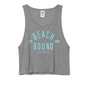 🌺2/$20 PINK beach bound crop tank